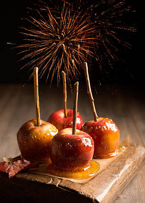 Toffee Apples Group Art Print by Amanda Elwell