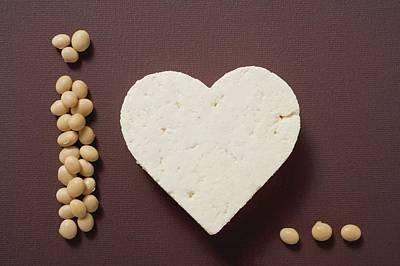 Tofu Heart And Soya Beans Art Print