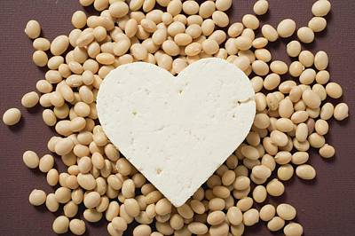 Tofu Heart On Soya Beans Art Print