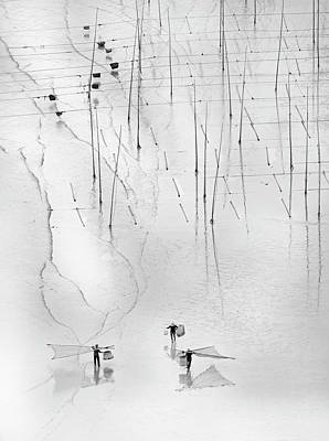 Bw Photograph - Together by Angela Muliani Hartojo