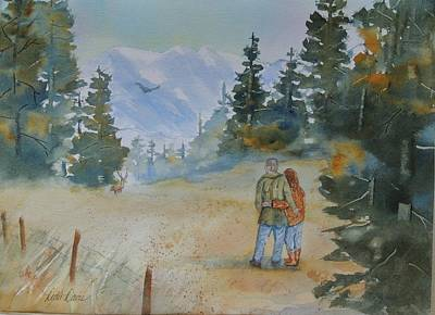 Impressionisttic Painting - Together Forever by Dodie Davis