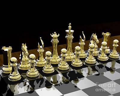 Chess Knight Photograph - Together - Chess by Lori Lejeune