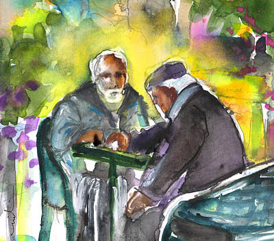 Chess Men Painting - Together Old In Crete 02 by Miki De Goodaboom