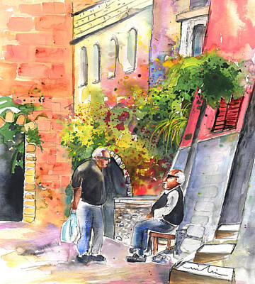 Painting - Together Old  In Italy 05 by Miki De Goodaboom