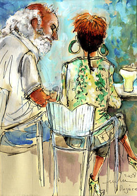 Painting - Together Old In Spain 03 by Miki De Goodaboom