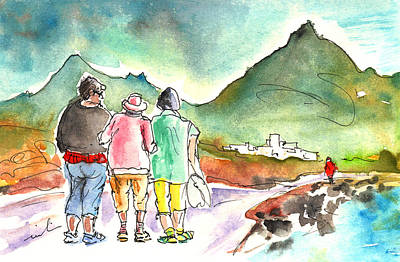 Painting - Together Old In Tenerife 04 by Miki De Goodaboom