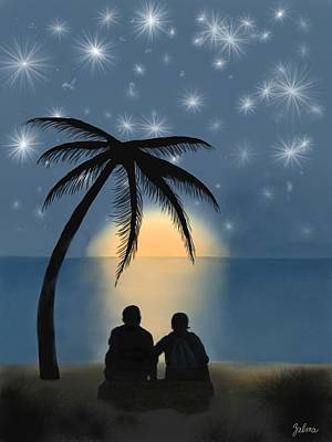 Together Under The Stars Art Print by Zelma Hensel