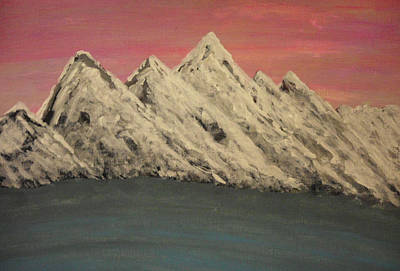 Clounds Mixed Media - Together We Can Move These Mountains by Erica  Darknell