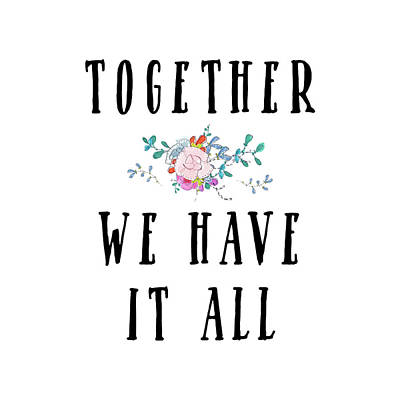 Family Love Painting - Together We Have It All by Tara Moss