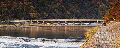 Photograph - Togetsukyo Bridge And Katsura River Panorama Arashiyama Kyoto Ja by Colin and Linda McKie
