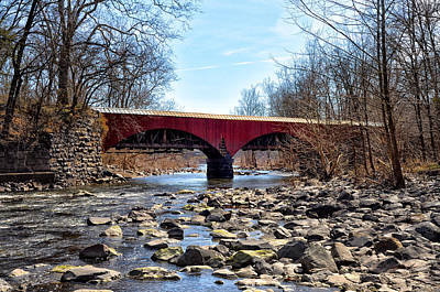 Aqueduct Digital Art - Tohickon Creek Aqueduct Point Pleasant by Bill Cannon