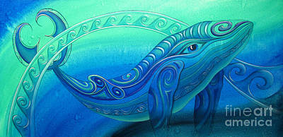 Painting - Whale  by Reina Cottier
