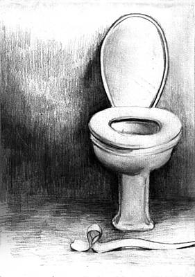 Toilet Art Print by Di FernandesToilet Drawing by Di Fernandes. Toilet Drawing. Home Design Ideas