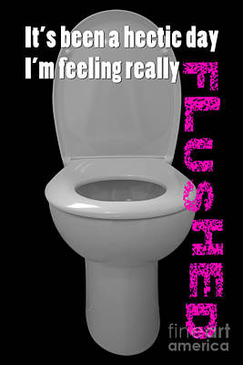 Water Closets Digital Art - Toilet Humor by Natalie Kinnear