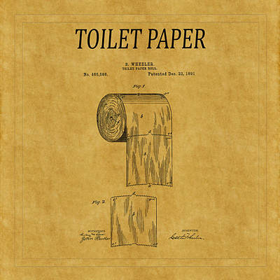 Toilet Paper Patent 1 Art Print by Andrew Fare