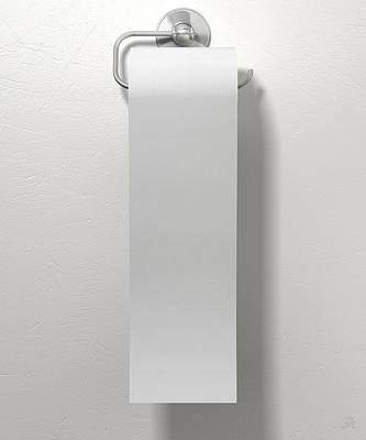Toilet Roll On Chrome Hanger Art Print