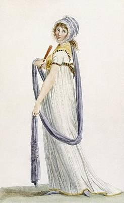 Toilette Demi-habillee, Illustration Art Print by Pierre de La Mesangere