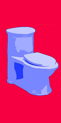 Toilette In Blue Art Print