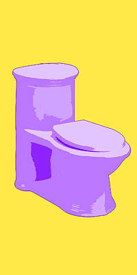Toilette In Purple Art Print