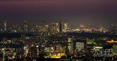 Tokyo Skyline Photograph - Tokyo City Skyline by Fototrav Print