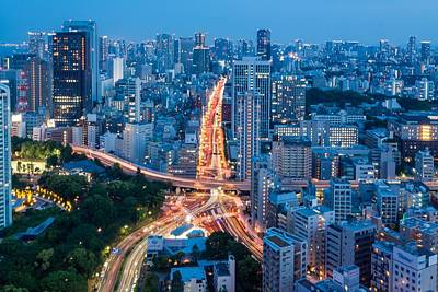 Photograph - Tokyo City View From Tokyo Tower At by Photography By Zhangxun