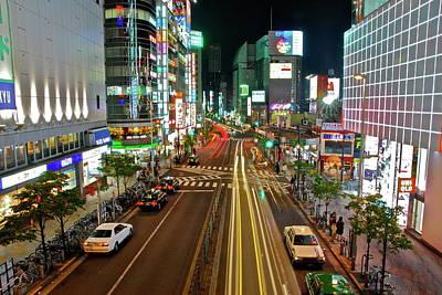 Tokyo Neon Streaks Art Print
