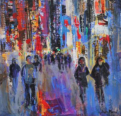 Times Square Painting - Tokyo Night by Sylvia Paul