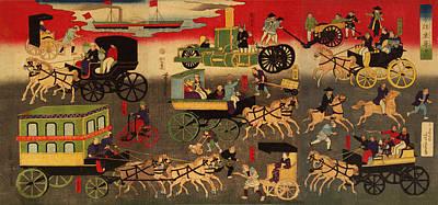 Steamboat Digital Art - Tokyo Oari Kuruma Zukushi by Bill Cannon