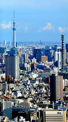 Photograph - Tokyo Skyline by Corinne Rhode