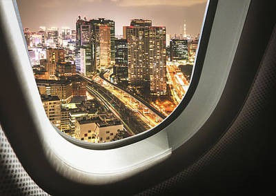 Tokyo Skyline From The Airplane Art Print by Franckreporter
