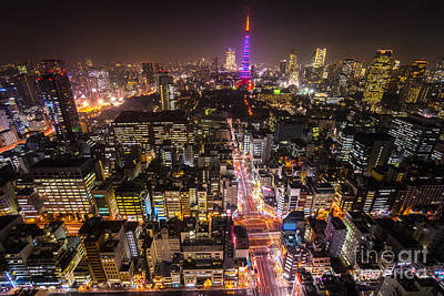 Tokyo Skyline Photograph - Tokyo Tower - Tokyo - Japan by Luciano Mortula