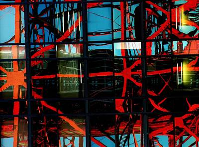 Photograph - Tokyo Tower Abstract by Jacqueline M Lewis