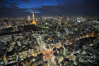 Photograph - Tokyo Tower At Night by Bryan Mullennix