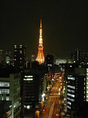 Photograph - Tokyo Tower At Night by Guy Whiteley