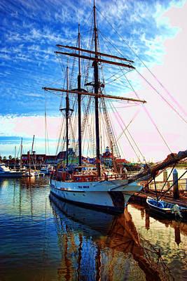 Tole Mour Sailing Ship Art Print