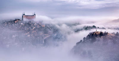 Toledo Photograph - Toledo City Foggy Morning by Jes?s M. Garc?a