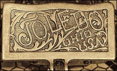 Toledo Ohio Usa Art Gold Art Print by LeeAnn McLaneGoetz McLaneGoetzStudioLLCcom