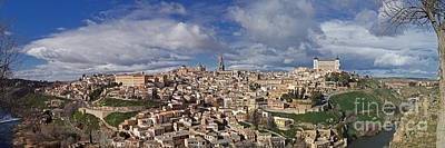 Toledo Old Town Panorama Art Print by Rudi Prott