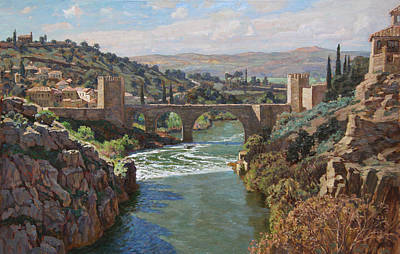 Painting - Toledo. San-martin Bridge by Korobkin Anatoly