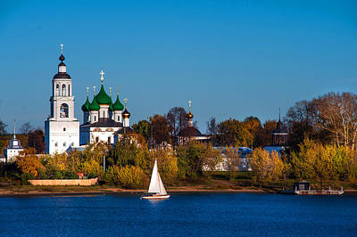 Tolga Monastery At River Volga Art Print
