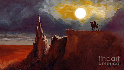 Jrr Painting - Tolkien's Night Rider by Gerald MacLennon