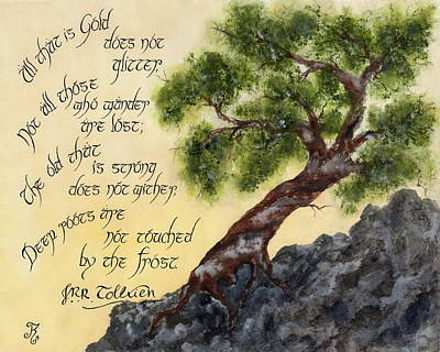 Jrr Painting - Tolkien's Tree by Kyla Ryan