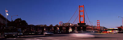Toll Booth With A Suspension Bridge Art Print