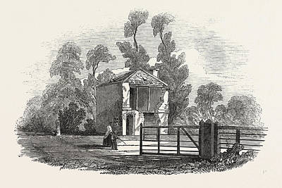 Toll House Drawing - Toll House, Near Gloucester, Struck Ry Lightning by English School
