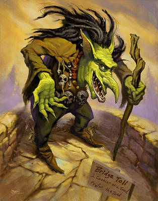 Jeff Bridges Painting - Toll Troll by Jeff Haynie