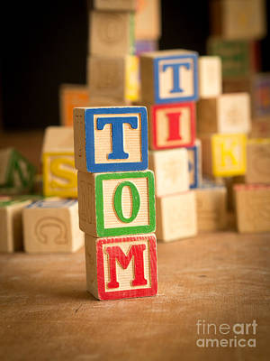 Tom - Alphabet Blocks Art Print by Edward Fielding
