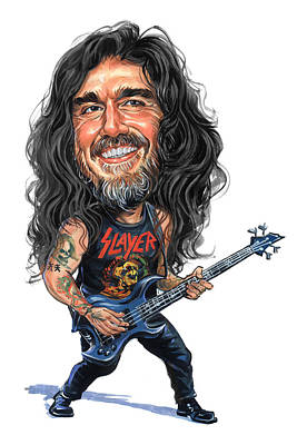 Bassist Painting - Tom Araya by Art