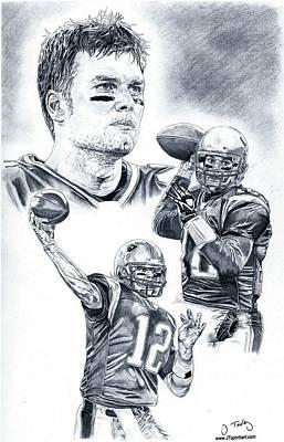 Tom Brady Print by Jonathan Tooley