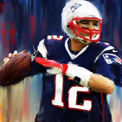 Collectible Sports Art Painting - Tom Brady by Lourry Legarde