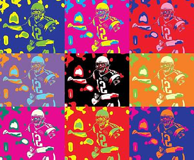 Gillette Stadium Digital Art - Tom Brady Pop Art by Dan Sproul